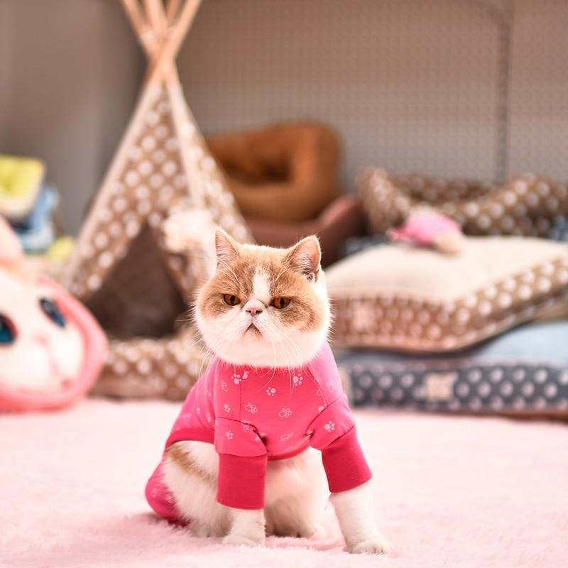 Oblečení pro psy Oblečení pro psy Růžová / Modrá Oblečení pro psy Oblečení pro psy Krásné štěně na sobě kostým psa Roztomilá kočka Sleepwear Dívka S-XL