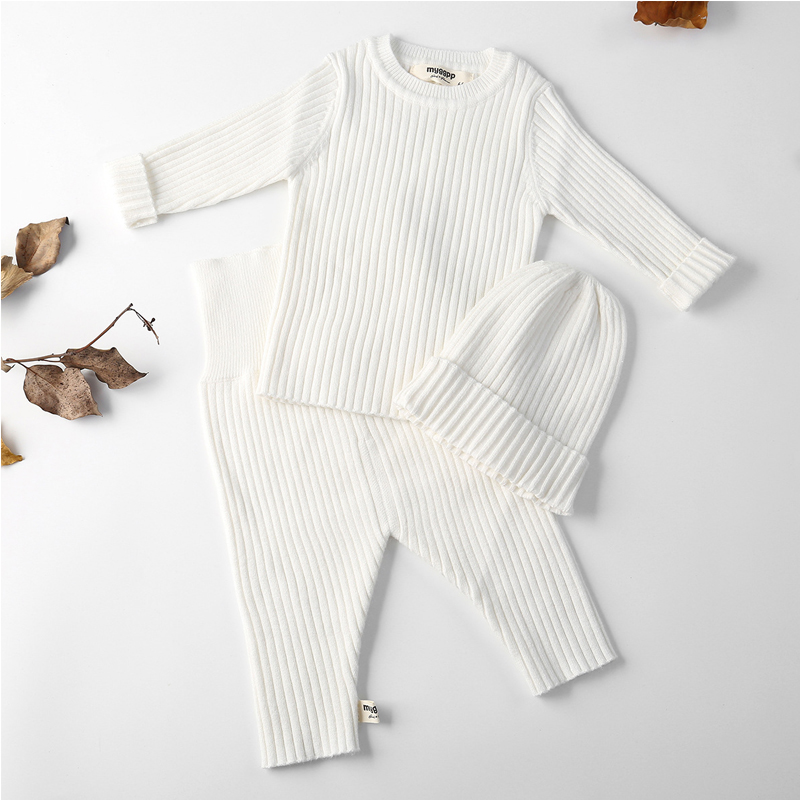 2018 Baby Clothes For Kids Children Boys Girls Sweater For Winter Autumn Pants Sets Soft Cute With Long Sleeve Hat Toddler Baby