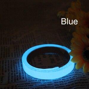 Image 4 - Yansıtıcı Glow Bant Kendinden yapışkanlı Etiket Çıkarılabilir Parlak Bant Floresan Parlayan Koyu Çarpıcı Uyarı Bandı