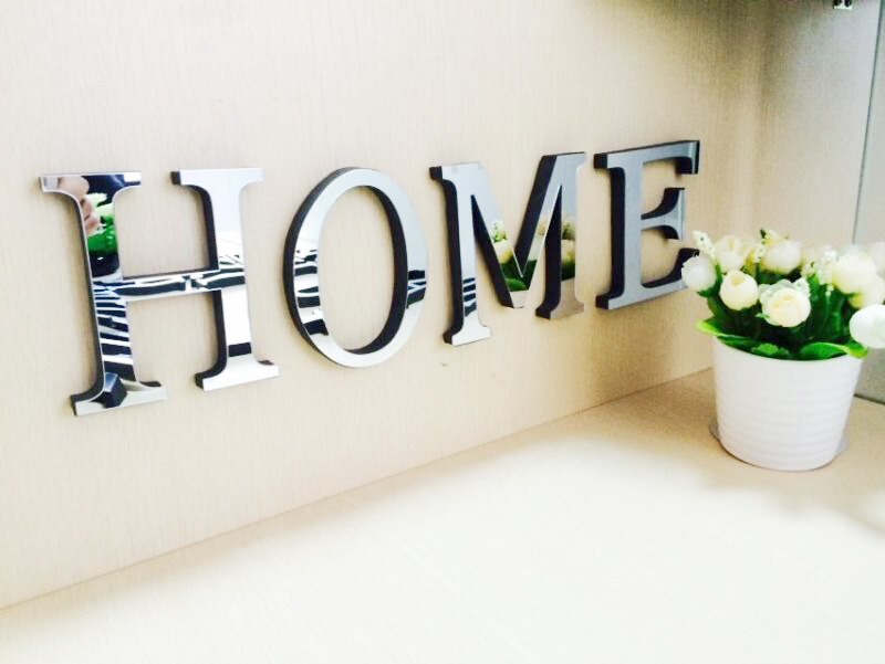 Superior 10cmx8cmx1.2cm(thick) Wedding Love Letters Home Decoration English 3D  Mirror Wall Stickers Alphabet Home Decor LOGO For Wall In Wall Stickers  From Home ...