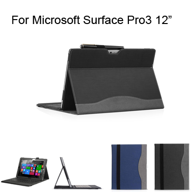 Innovate Design Hight quality Leather cover for Microsoft Surface Pro 3 12 inch Protective cover case+Keyboard cover+Screen Film