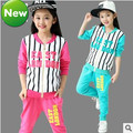 NOVA primavera outono das crianças jaqueta de roupas meninas conjuntos de roupas meninas da escola terno conjunto esportes baseball crianças conjuntos de roupa de jogging