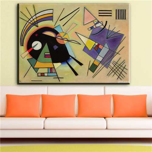 Farbstudie Quadrate By Wassily Kandinsky Abstract Poster Print Wall Art Picture