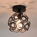 Teto luzes do Corredor Varanda lâmpada Americano Ferro avize luminaria lamparas de techo casa restaurante iluminação de teto de cristal