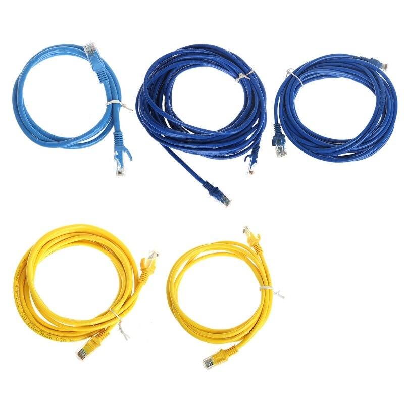 # B00 Ethernet Netzwerk LAN Cat5e Cat5 Patch Kabel 0,8/1,6/2,4/4/8 mt Für computer PC Drop verschiffen