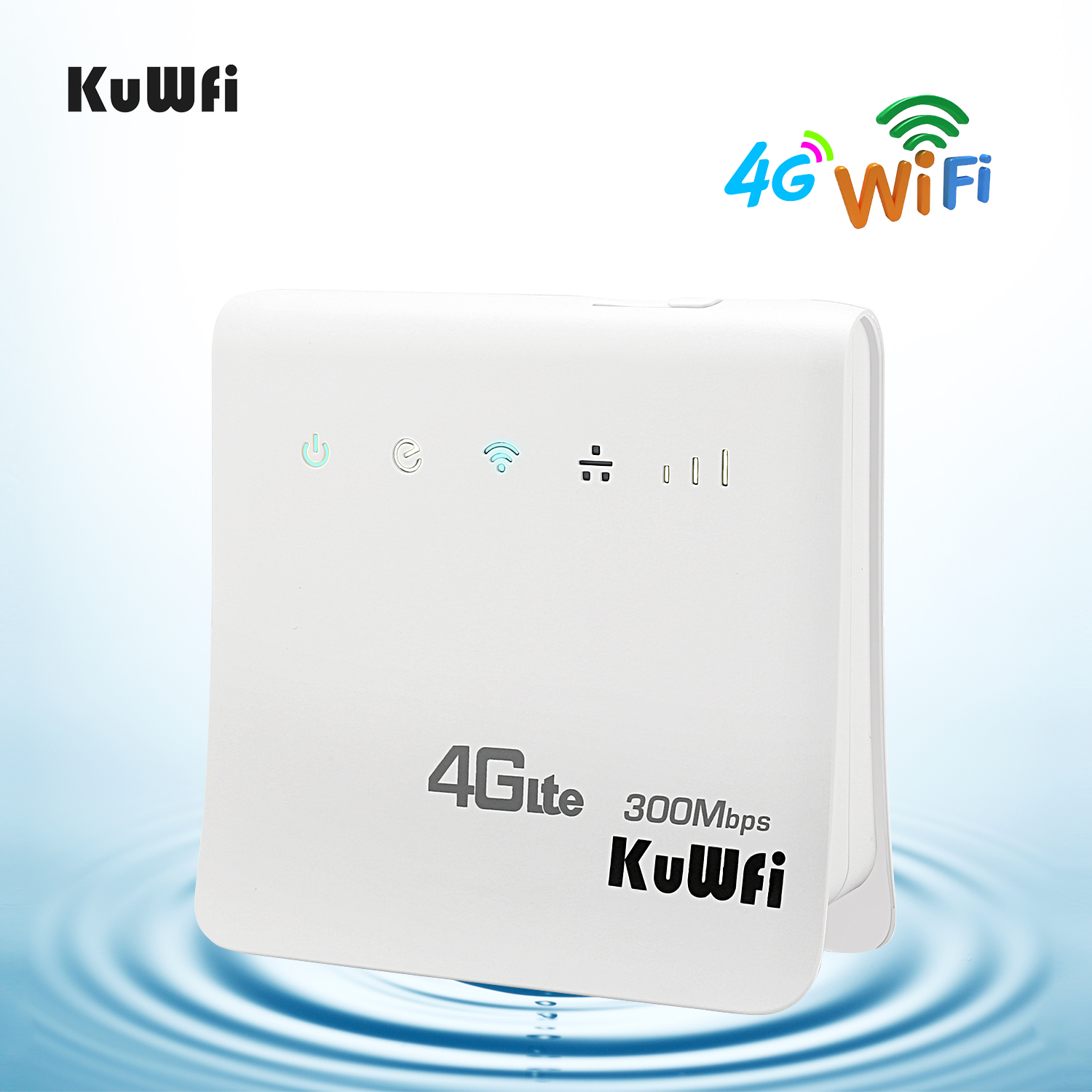 Unlocked 300Mbps Wifi Routers 4G LTE CPE Mobile Router with LAN Port Support SIM card and