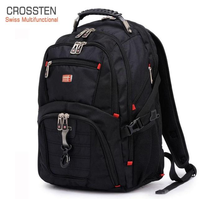 Crossten Swiss Multifunctional Waterproof Laptop Backpack for 17