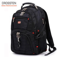 Crossten Swiss Multifunctional Waterproof Laptop Backpack for 17 laptop Versatile Schoolbag Large Capacity Travel Bag