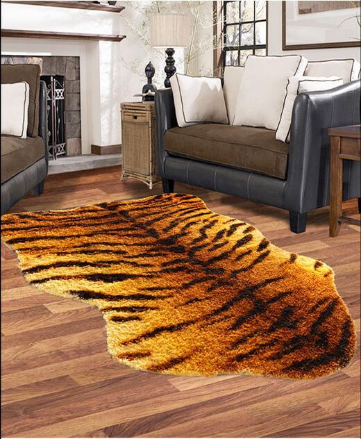 envo gratis nuevo diseo de imitacin de piel de tigre alfombras para nios dormitorio tapete de