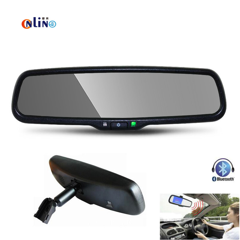 Special bracket 800 * 480 HD screen 4.3″ TFT LCD Special Car Bracket Monitor with Bluetooth Speaker Music FM Transmitter