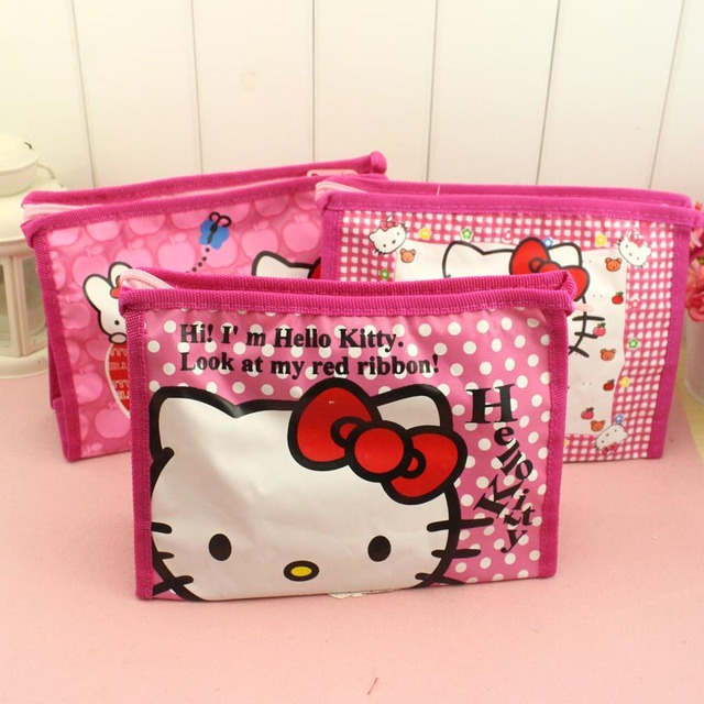 5f8d80afb8 Girl s Hello Kitty Cosmetic Bags Cute Travel Makeup Organizer Case  Beautician Beauty Suitcase Accessories make up bags