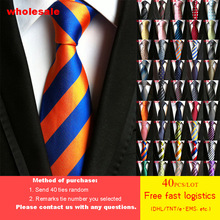 DHL/TNT Free Shipping 40pcs/lot 79 Styles Tie Wholesale Fashion Mens 100% Silk luxury High Density Striped Men Neckties