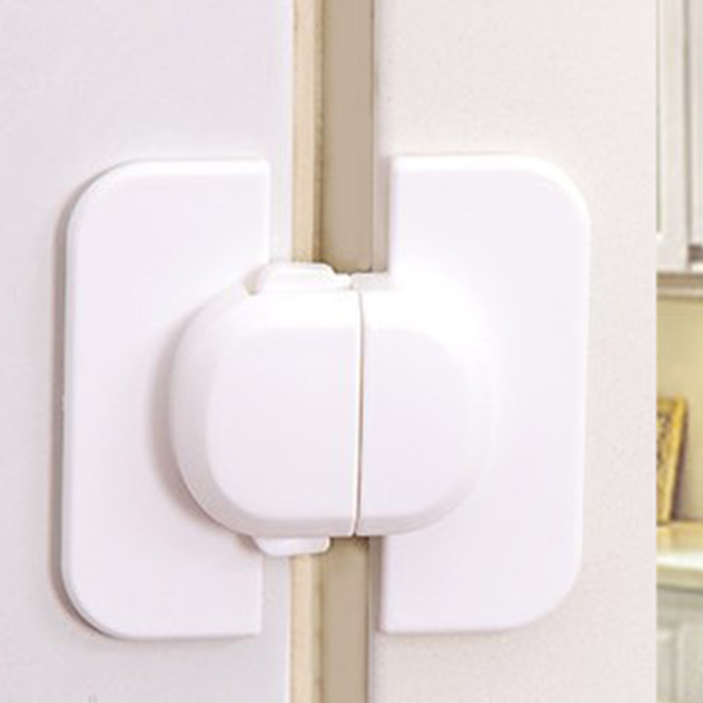 Plastic Safe Protect Baby Safety Fridge Lock Safe Fridge Drawer Door Cabinet Cupboard Kids Toddler Safety White Locks