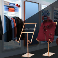 5pcs Clothing Shop Store Window Display Pops Holder Stainless Steel T Shirt Display Frame Shirt Display Rack Stand