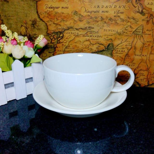 Magnesia Porcelain Coffee Cup And Saucer Logo Large Black Tea