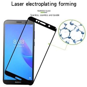 Image 4 - Vetro temperato Per Huawei Y5 Lite Copertura Completa di Protezione di Vetro Su Y 5 Y5 prime Y5lite 5lite Y9 2018 2019 Y92019 Protezione Dello Schermo