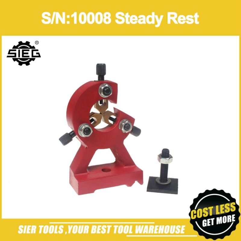 Free Shipping S N 10008 Steady Rest SIEG C2 C3 SC2 SC3 centre rest lathe centre