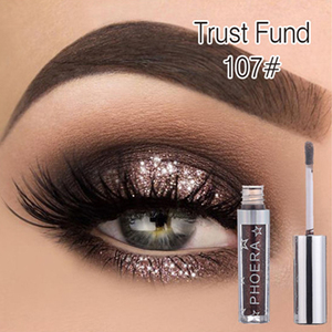PHOERA Metallic Diamond Palette Eyeshadow Pearly Waterproof Liquid Eyeshadow Glitter Eye Shadow Shimmer Eye Makeup TSLM2(China)