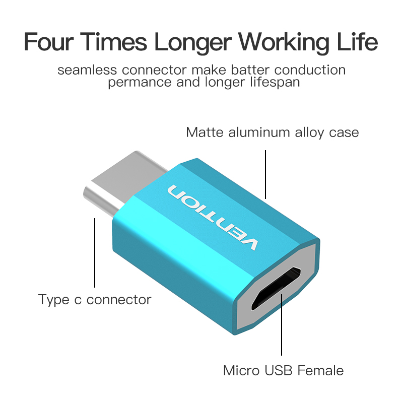 Vention Micro USB 2.0 Female Adapter to USB 3.1 Type C USB C ...