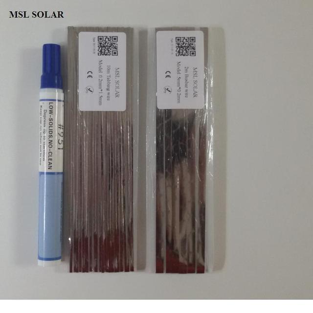 חוט הלחמה תאים סולריים MSL איכותי פח מצופה נחושת רצועת עבור תאים סולריים. חוט מחבר עבור DIY פנל סולארי. CE ROS