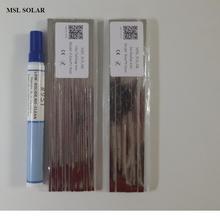 Msl太陽電池はんだワイヤートップ品質錫被覆銅ストリップ用太陽電池溶接。コネクタワイヤ用ソーラーパネルdiy。ce ros