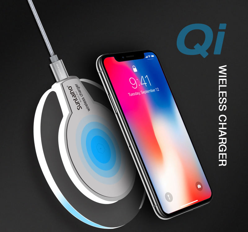 Qi Wireless Charger for Samsung Galaxy S9 S8 Plus Suntaiho Fashion Charging Dock Cradle Charger for iphone XS MAX XR 8Plus phone 9