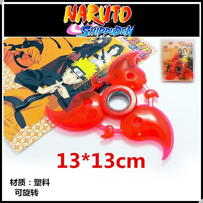 Наруто крови круглые глаза спин Shuriken, вращающийся дартс, аниме оружие Модель игрушки, игрушки нож, подарки для детей.