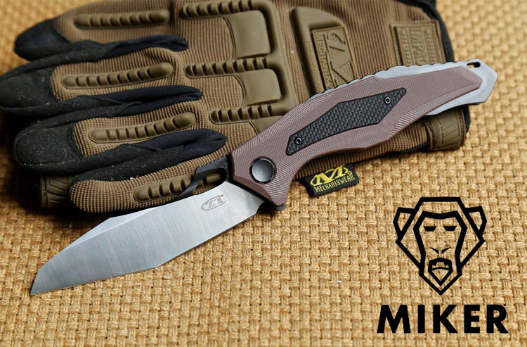 Miker ZT0427 D2 blade G10 handle Flipper ball bearing Tactical folding knife camp hunt outdoor survival knives EDC tools цена