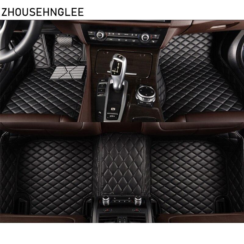 Zhoushenglee Car Floor Mats For Hyundai Sonata 2006-2013 2014 2015 2016 2017 2018 Custom Foot Pads Automobile Carpet Cover