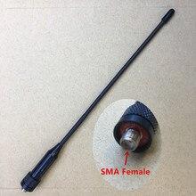 Honghuismart rubber UHF VHF 144/430mhz Dual Band Sma Female antenna for Wouxun KG-UVD1P walkie talkie