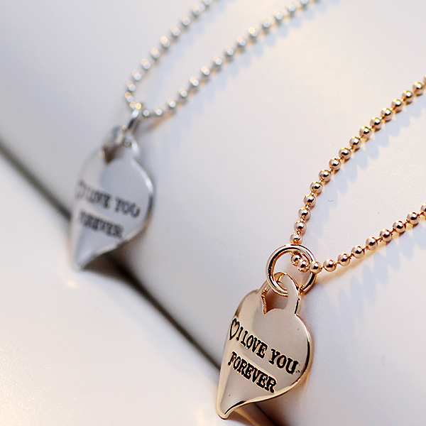 2017 new women fashion jewelry choker necklace word I love you forever heart necklace women jewelry pendant necklaces woman
