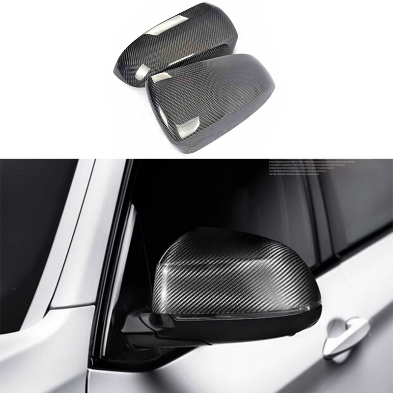 2x 100% Carbon Fiber Rearview Mirror Replace Cover Case For BMW X3 F25 2015 2017 & X4 F26 15 17 & X5 F15 14 17 & X6 F16 15 17