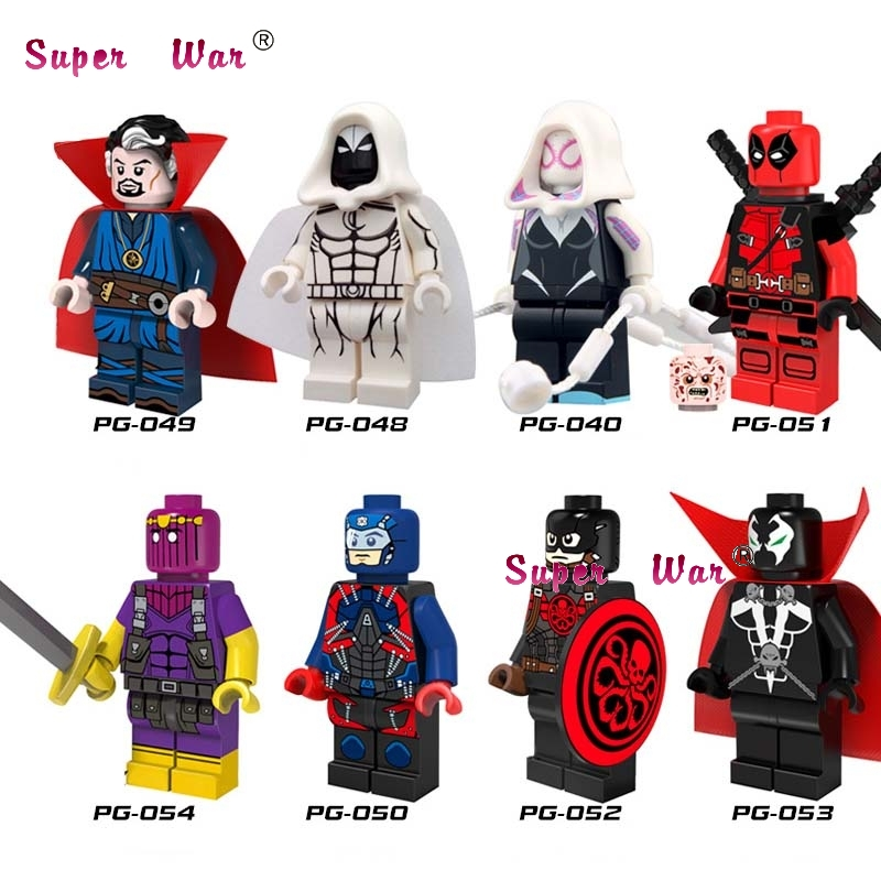 Model Building Methodical 80pcs Starwars Superhero Building Blocks Atom Deadpool Spawn Strange Docto Action Bricks Friends For Games Children Toys Fashionable Patterns