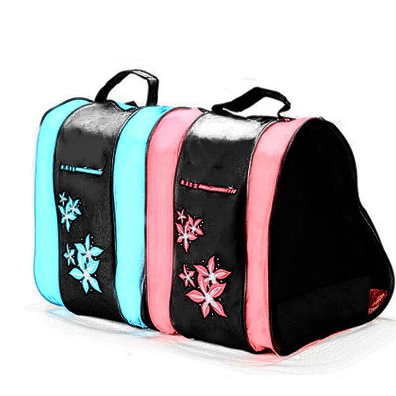 1 Pc Ice Roller Blade Skate Bag Skate Skating Shoes Shoulder Strap Carry Bag Holder Case Three-Layer Skate Accessories