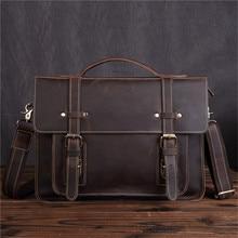Genuine Leather Messenger Bag for Men 13 Inch Laptop Briefcase Male Real Shoulder Handbag Mens Crossbody Large Tote
