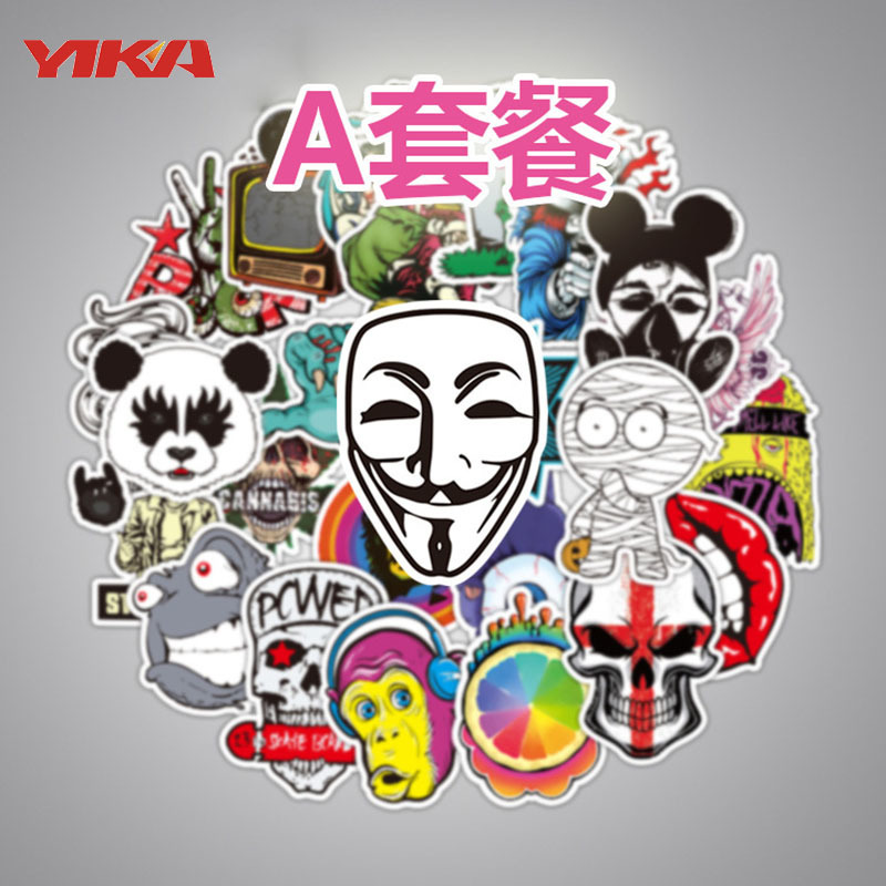 100 pcs Non-repetitive Graffiti Car Stickers The Whole Body Car Stickers ABCDEFG 7 Categories Can Be Selected
