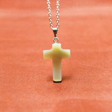New Lovely Natural Stone Cross Hearts Pendant Necklace Women Choker Necklaces  Mix Fashion Summer jewelry accessory