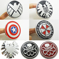 Chrome Metal Agents of SHIELD Red Skull Resident Evil Car Emblem Stickers Decoration Metal Captain America Car Decals Accessory