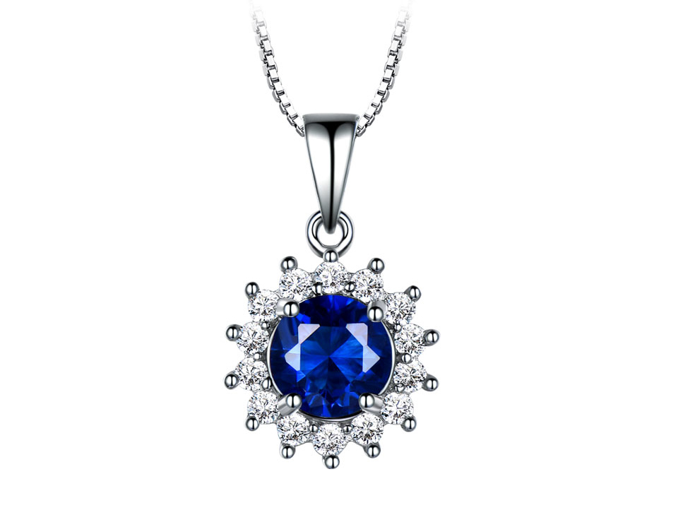 UMCHO Sapphire 925 sterling silver jewelry set for women S020S-1 (2)
