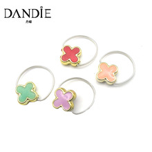 Dandie Trendy Four Different Colour Red And Green And Pink And Purple Ring, For A Woman's Daily Wear