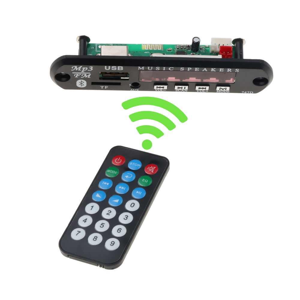 kebidu USB Car Audio TF FM Radio Module Wireless Bluetooth 5V 12V MP3 WMA  Decoder Board MP3 Player with Remote Control For Car