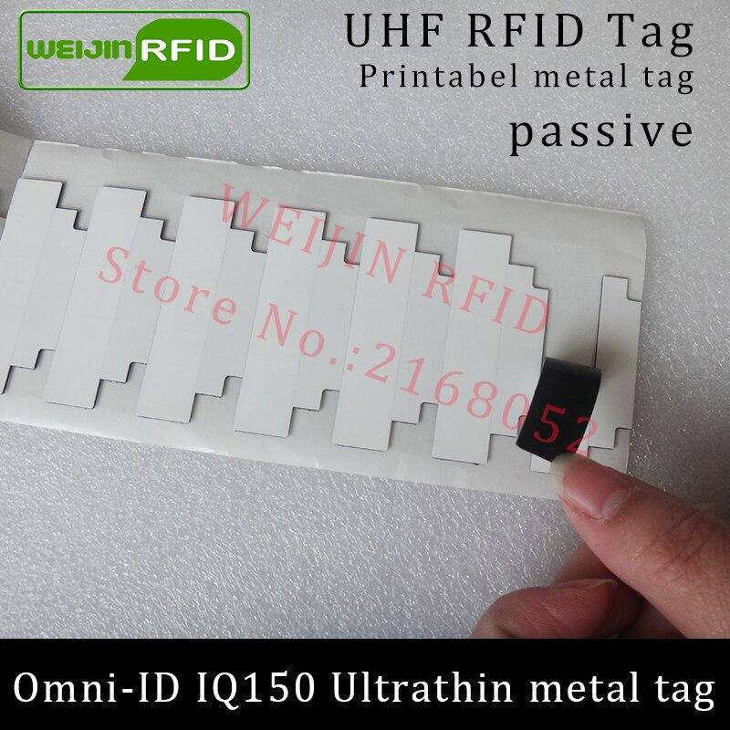 UHF RFID anti-metal tag omni-ID IQ150 IQ 150 915mhz 868mhz Impinj Monza R6 EPCC1G2 6C printable passive RFID Synthetic Label uhf rfid anti metal tag omni id adept 500 915m 868m gas cylinder management alien higgs3 epcc1g2 6c smart card passive rfid tags