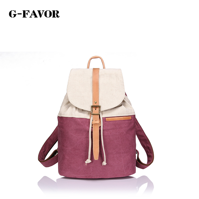 Canvasartisan brand new women canvas casual backpack fashion style large capacity top quality female travel bag backpacks