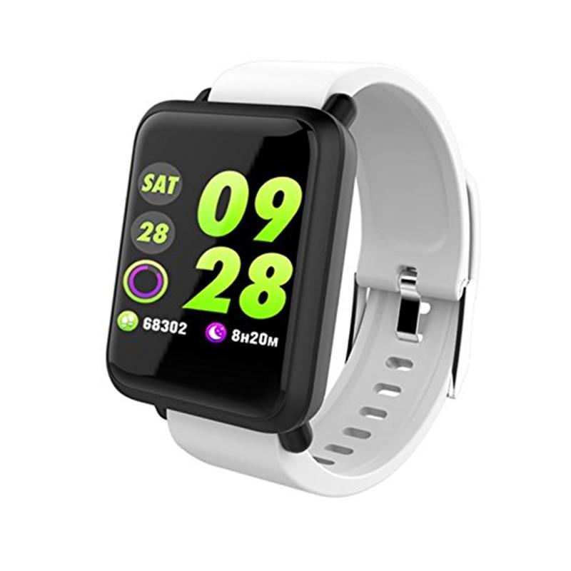 Montre intelligente pour Smartphones Android prend en charge le Bracelet intelligent traqueur de fréquence cardiaque pour les téléphones Android iOS montre intelligente montre de Sport