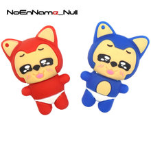 Noenname Ahri Pendrive 128GB 4GB 8GB 16GB 32GB Usb Flash Drive Pend rive 64GB Cute Animal U Disklovely memory stick flash card(China)