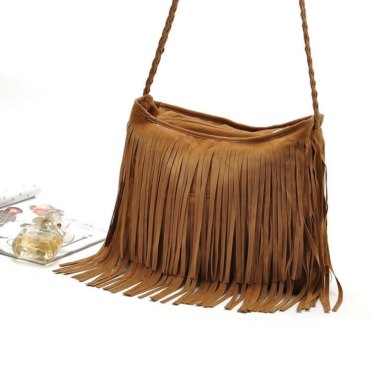 Fashion PU Leather Handbag Tassel bags Vintage Bucket Women Shoulder bag Small Ladies messenger bags Tote bolsa 2015 BH249 (7)
