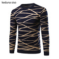 2016 New Arrival Pullover Men O-Neck Casual Christmas Style Men knitted Sweater Criss-Cross Slim Fit Pull Homme Sweater Men