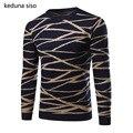 2016 Nueva Llegada Hombres Suéter Del O-cuello Ocasional Estilo de la Navidad Hombres Suéter de punto Criss-cross Slim Fit Suéter Homme Tirón hombres