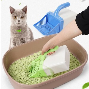Полезная Лопата для кошачьего туалета, инструмент для очистки домашних животных, лопатка, быстрая простая чистка кошачьего песка, держател...