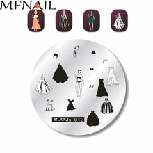 5.6cm ZJOYS Series Round Nail Art Stamp Stamping Plates,Lace Flower Lace Design Image Plate,Nail Disk Plates